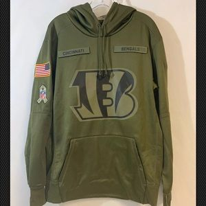 sneakers for cheap bb2a6 d2ba8 Nike salute to service Cincinnati bengals hoodie NWT